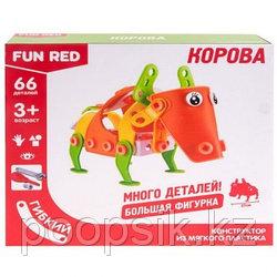 "Конструктор гибкий ""Корова Fun Red"", 66 деталей, FRCF009"