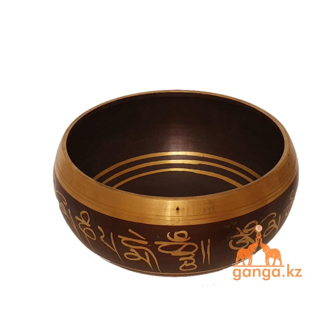 Поющая чаша Черная, диаметр 14 см