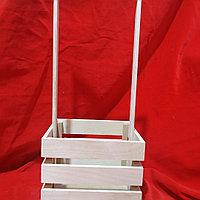 Ящик деревянный для оформления цветов, подарков 15х10 см