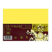 Конверт С6 114х162мм, желтый