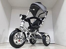 Велосипед трехколесный Harley с родительской ручкой. Надувные колеса