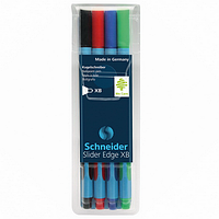 Ручка шариковая Slider Edge XB, 4 шт/уп