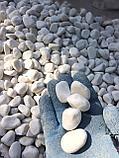 Белая галька, гравий для дизайна, фото 4