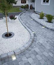 Белая галька каменная для ландшафтного дизайна