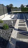 Белая галька каменная для ландшафтного дизайна, фото 2