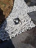Белая галька каменная для ландшафтного дизайна, фото 3