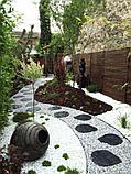 Белая галька каменная для ландшафтного дизайна, фото 10