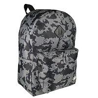 Рюкзак молодежный 43см, сер/черный