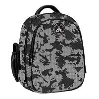Рюкзак школьный, 38см, сер/черный