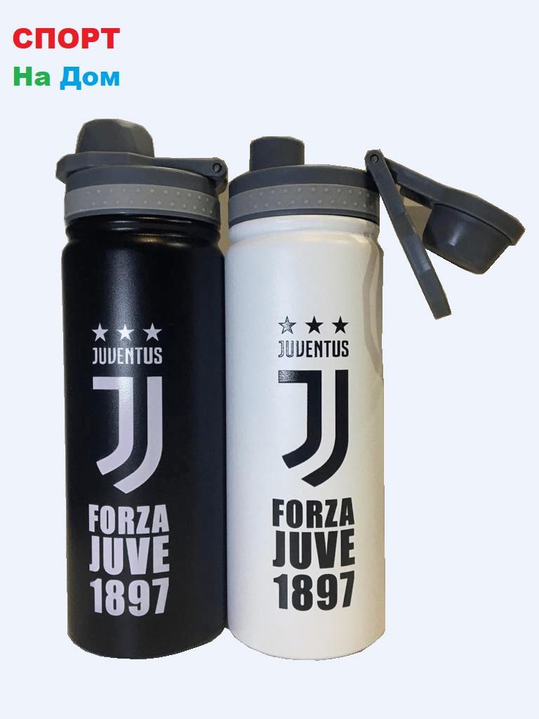 Клубная спортивная бутылка для воды Ювентус (цвет черный,белый)