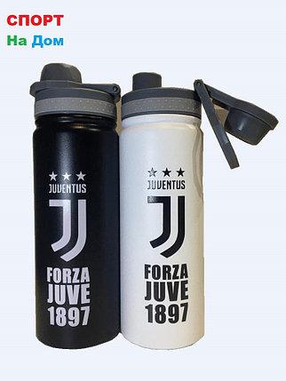 Клубная спортивная бутылка для воды Ювентус (цвет черный,белый), фото 2