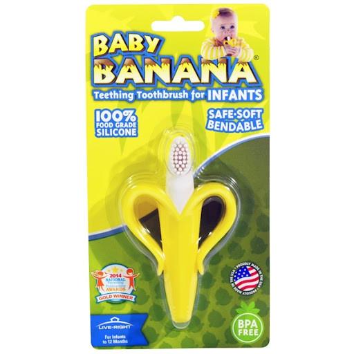 """Грызунок """"банан"""" (прорезыватель десен, для зубиков) для младенцев """"Baby Banana"""""""
