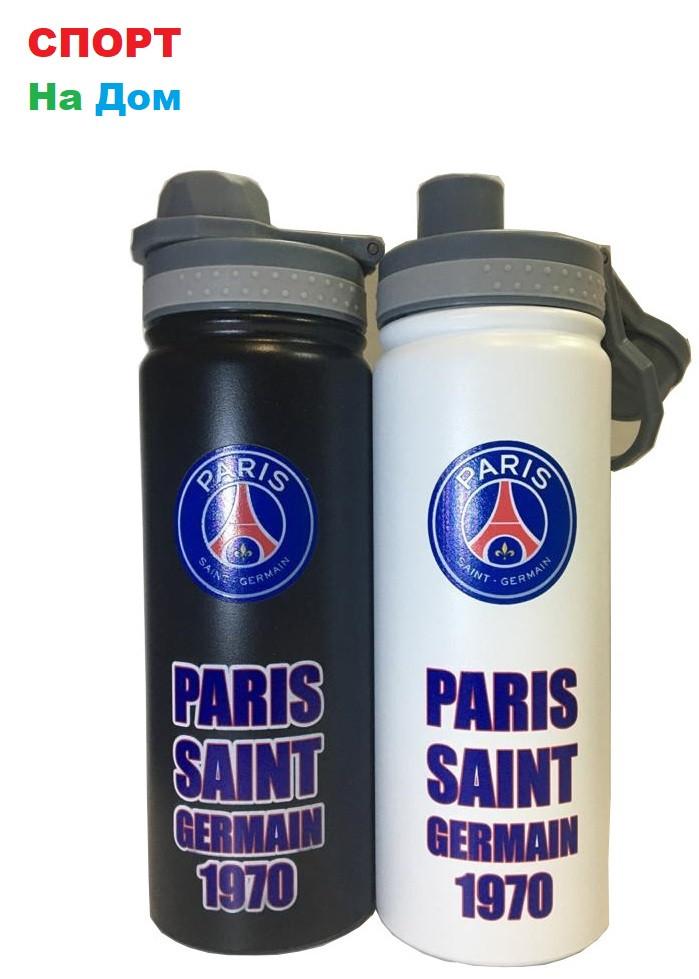 Клубная спортивная бутылка для воды Париж Сен-Жермен (ПСЖ) (цвет черный,белый)