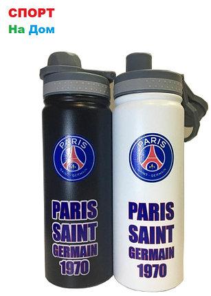 Клубная спортивная бутылка для воды Париж Сен-Жермен (ПСЖ) (цвет черный,белый), фото 2