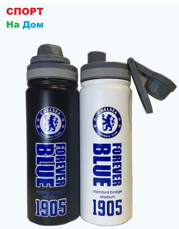 Клубная спортивная бутылка для воды Челси (цвет черный,белый)
