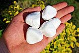 Белая натуральная галька мраморная, фото 5