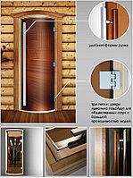 Дверь Престиж (бронза) радиусная, 190х70, 8 мм, 3 петли, коробка ольха. Банный Эксперт