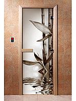 Дверь с фотопечатью, арт.А057, 190х70, 8 мм, 3 петли, коробка ольха. Банный Эксперт
