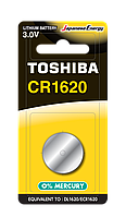 Батарейка алкалиновая таблетка Toshiba CR 1620 BP-1C