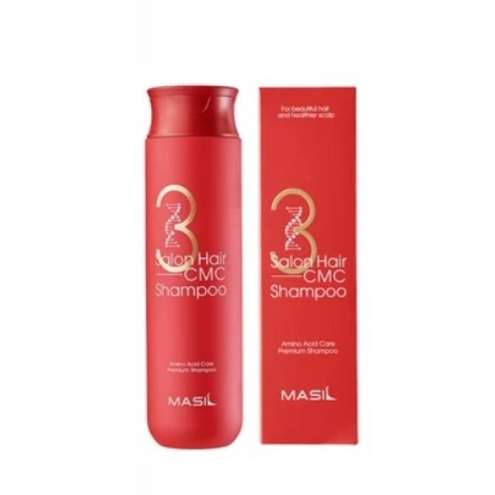 Восстанавливающий шампунь для волос Masil 3 Salon Hair CMC Shampoo 300ml.
