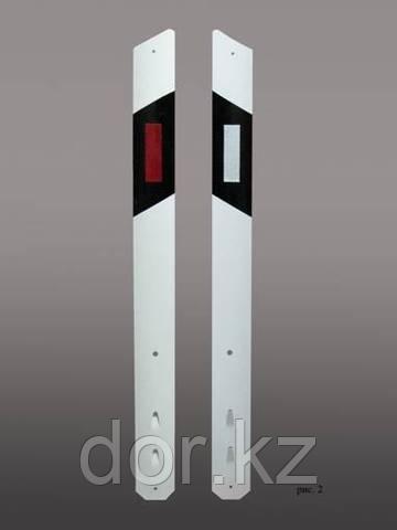 Столбик сигнальный дорожный СТИЛФЛЕКС c прямым верхом с пленкой