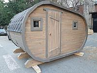 Баня-бочка из кедра 5*4 м. / овальная,, фото 1