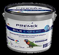 Интерьерная акриловая краска стойкая к протиранию Premix Silk Expert (25 кг)