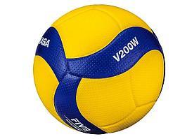 Мяч волейбольный Mikasa V200W, желтый цвет, 5 размер