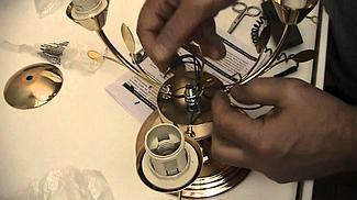 Установка люстры (до 5 патронов)