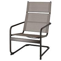 кресло садовое ХУСАРЭ темно-серый ИКЕА, IKEA, фото 1