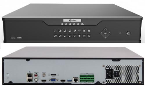 NVR308-64E-B - 64-х канальный сетевой видеорегистратор с поддержкой записи 12MP, видеоаналитикой и 8 SATA-интерфейсами. Серия Prime 2.