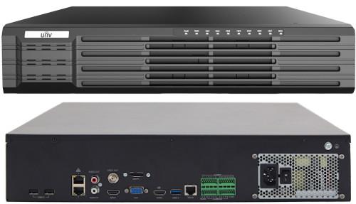 NVR308-64R-B - 64-х канальный сетевой видеорегистратор с поддержкой записи 12MP, видеоаналитикой и 8 SATA-интерфейсами. Серия Prime 3.