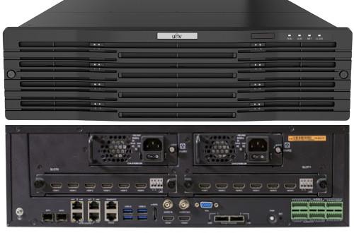NVR516-128 - 128-ми канальный сетевой видеорегистратор с поддержкой записи 12MP, видеоаналитикой и 16 SATA-интерфейсами. Серия Pro.