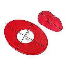 Мяч балансировочный с доской  30 см (цвет зелёный,красный), фото 3