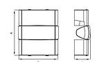 Угол внешний 90х50 мм, изменяемый (80-120°) ДКС, фото 2