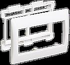 Рамка и суппорт для кабель-канала ПРАЙМЕР на 4 модуля 75мм белые IEK, фото 2