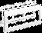 Рамка и суппорт для кабель-канала ПРАЙМЕР на 6 модулей 75мм белые IEK, фото 2