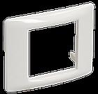 Рамка и суппорт универсальные на 2 модуля белые IEK, фото 2