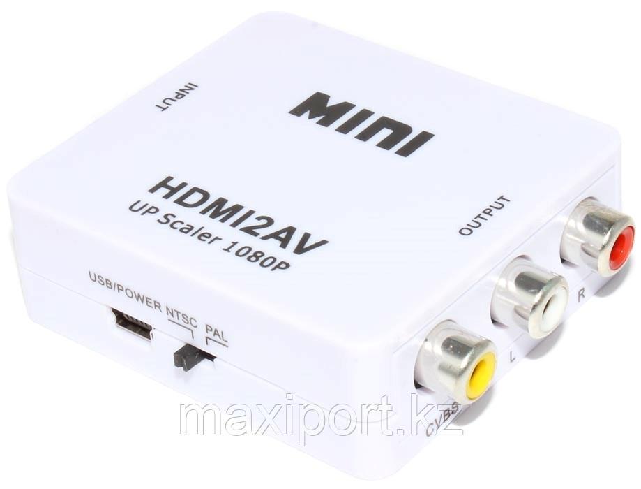 "Конвертер (переходник) с HDMI на AV (""тюльпаны"" RCA, со звуком)"