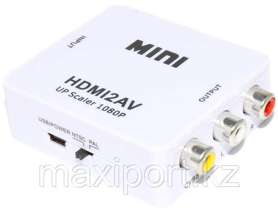 "Конвертер (переходник) с HDMI на AV (""тюльпаны"" RCA, со звуком), фото 2"