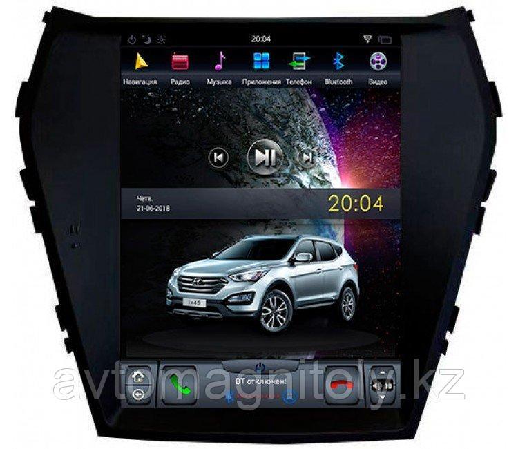 Магнитола CarMedia для Hyundai Santa Fe 2013-2018TESLA STYLE