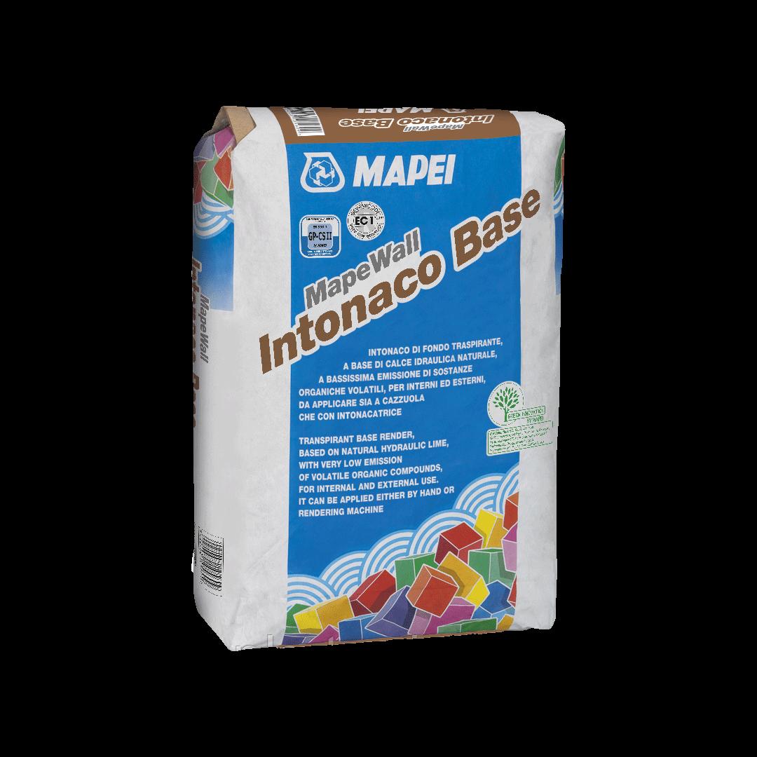 MAPEWALL INTONACO BASE  базовая штукатурка на основе натуральной гидравлической извести