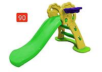 Детская горка с баскетбольным кольцом
