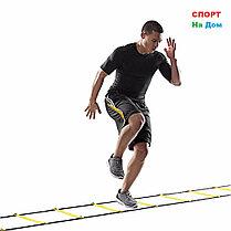 Координационная лестница 4 м для футбольной тренировки, развития скорости, фото 2