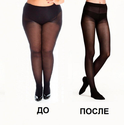 Колготки для похудения SLIM BODY с 3D эффектом [40 den] (Размер-4 / Черный), фото 2