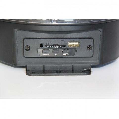 Диско-шар с МР3-плеером LED CRYSTAL MAGIC BALL LIGHT ver.2 {USB, microSD, пульт ДУ} - фото 4