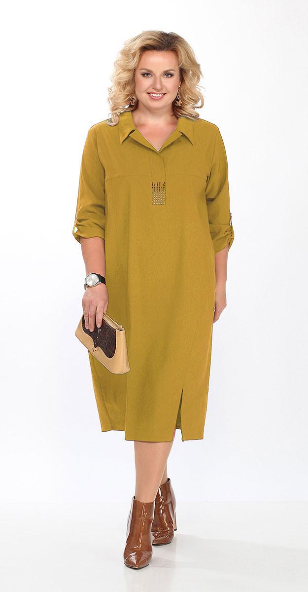 Платье Lady Secret-3604/1, горчица, 56