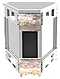 Прилавок нейтральный угловой внутренний 45 градусов LU20 Cap 45, фото 3