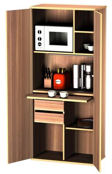 Стеллаж без дверей для мини-кухни Т400/К