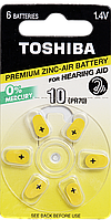 Батарейки слуховые Toshiba 10 PR70/PR536 NE DP-6